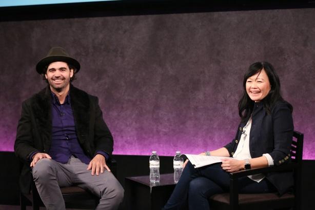 Leo Burnett's Judy John interviews Birdman screenwriter Armando Bo at Brand Film Festival.