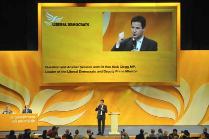 Nick Clegg: his popularity has fallen (Rex Features)
