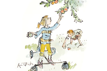 'Girl Picking Apples': painting by Quentin Blake
