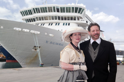 Passengers wore period costumes for the cruise