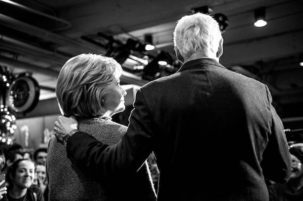 Hillary and Bill Clinton in New Hampshire. (Image via the Clinton campaign's Facebook page).