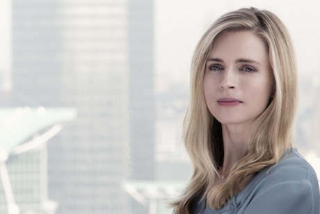 Actress Brit Marling as Met Police head of comms Liz Garvey in Babylon