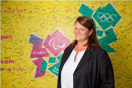 Wall of words: LOCOG's director of comms and public affairs Jackie Brock-Doyle
