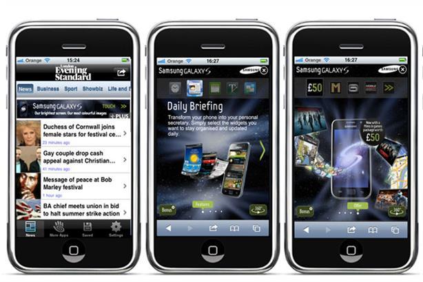Top spot: Samsung handsets