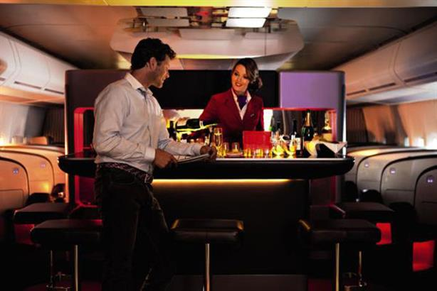 Luxury: Virgin Atlantic's new Upper Class bar