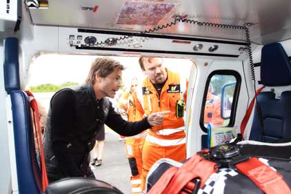 Actor Rob Lowe: supports The Air Ambulance