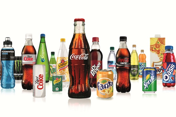 Drinks bottled by Coca-Cola Enterprises