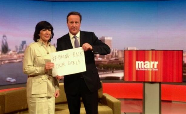 David Cameron: Tweeted this image after appearing on The Andrew Marr Show