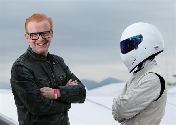 Top Gear: Chris Evans and The Stig pose to promote the new series (pic credit: Yui Mok/PA Wire)