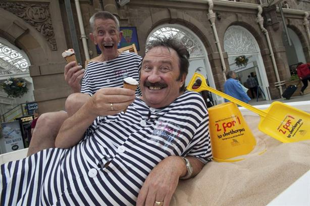 To me, to you: The Chuckle Brothers have featured in Manc Frank's work for First TransPennine Express