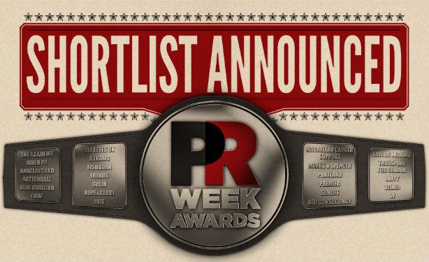 The PRWeek UK Awards will take place on 18 October 2016