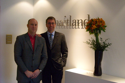 New venture: Peter Bowyer (left) and Neil Bennett launch Maitland Political