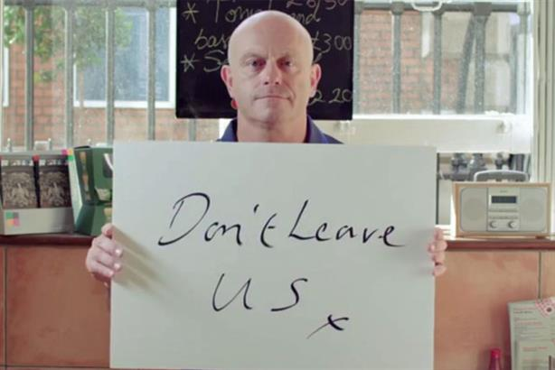 Support: Actor and TV presenter Ross Kemp in the 'Let's Stay Together' campaign