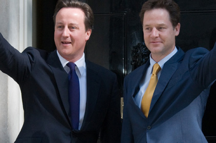 New age of politics: Cameron and Clegg formed coalition