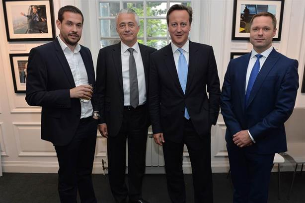 Power picture: (l-r) Photographer Andrew Parsons, Ben Atfield, the Prime Minister and Gavin Ellwood