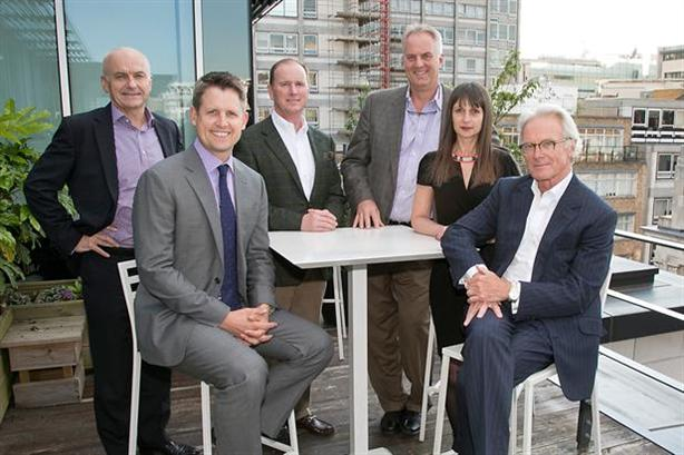 Peter Scott (right) with fellow Engine and Lake Capital executives in the summer