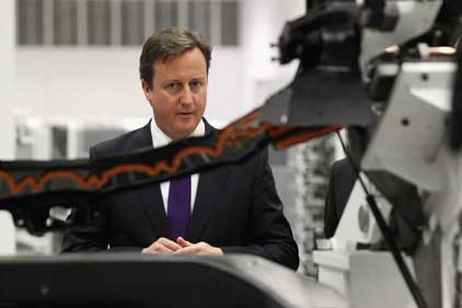 David Cameron: at the McLaren Technology Centre (PA Photos)
