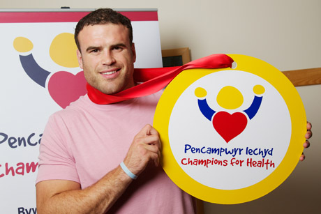 Health kick: Welsh sports stars such as rugby player Jamie Roberts supported the campaign