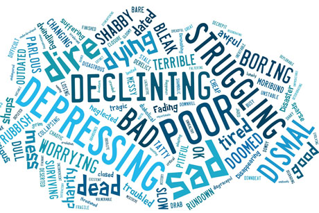 Shopping around: OnePoll's word cloud depicts public opinion on the state of the high street