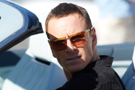 Michael Fassbender: wearing Cutler and Gross eyewear