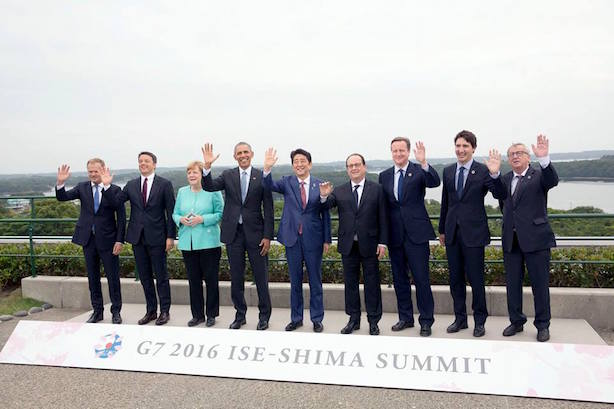 World leaders in Japan for the G7 summit. (Image via the White House's Facebook page).