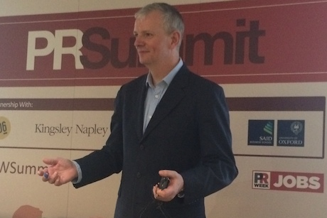 Speaker: Gareth Wynn at the PR Summit today