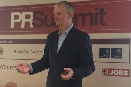 Speaker: Gareth Wynn at the PR Summit today