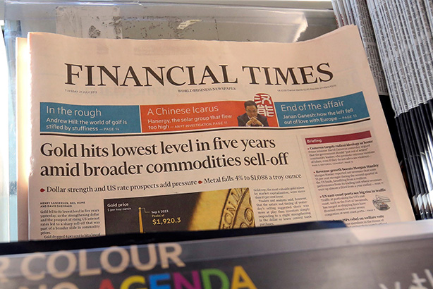 Financial Times: Sold to Nikkei (Credit: Chris Ratcliffe/Bloomberg via Getty Images)