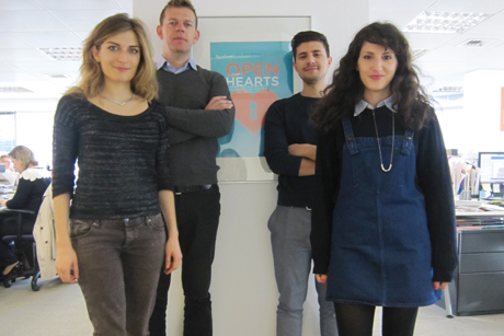 New creative team: (Left to right) Fernanda Gasparin, Oliver Dove, Christian de Cianni, Lauren Zeitoun