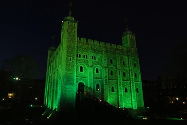 The White Tower: as it looked last night