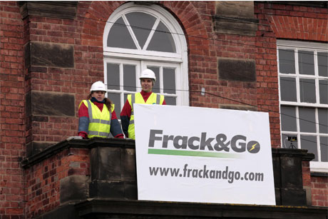 Greenpeace: has mounted publicity stunts to express opposition to fracking