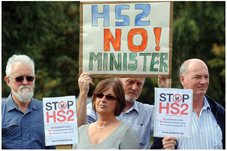 Opposition: There have been protests against HS2