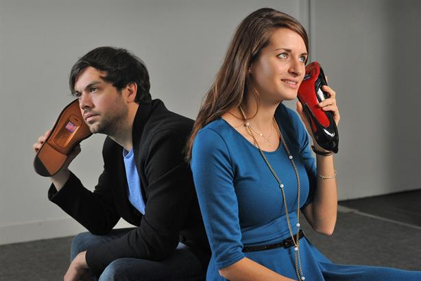 Hope & Glory: Campaign for O2 featured walkie talkies made out of old shoes
