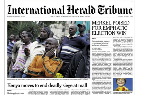 Front pages: Kenya mall siege