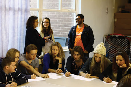 Education, education, education: School kids in Liverpool take part  in a CIPR programme on comms