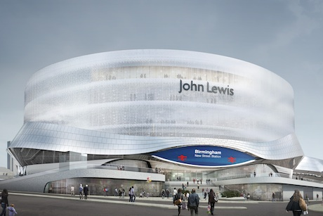 John Lewis: an artist's impression of the Birmingham New Street store