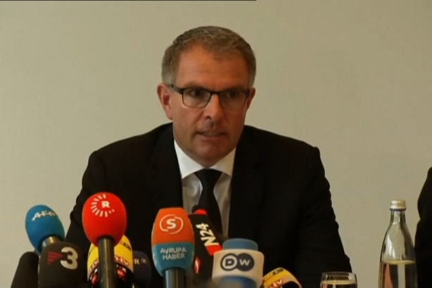 Lufthansa CEO Carsten Spohr at Thursday's press conference