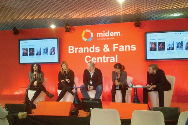 Midem: Warren Johnson (far right) talking brands, bands and media with the panel