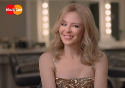 MasterCard's Brits-related 'Priceless' activity includes the chance for cardholders to meet Kylie Minogue