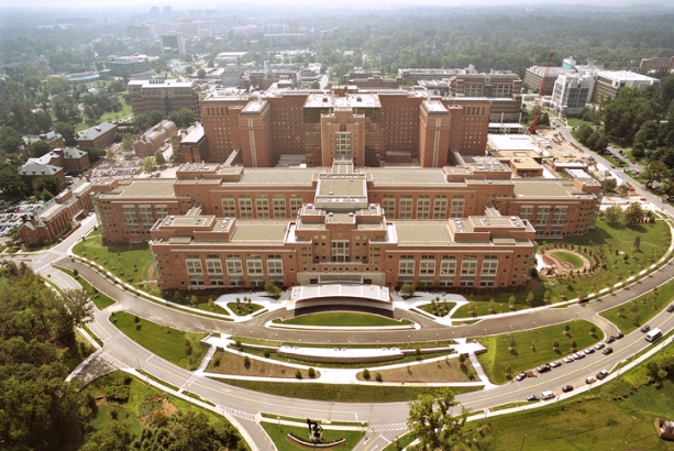 NIH Mark O. Hatfield Clinical Research Center in Bethesda, Maryland (by NIH, via Wikimedia Commons)