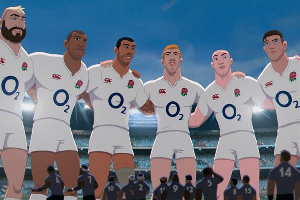 Sponsorship: 02 Wear the Rose campaign from the 2015 Rugby World Cup