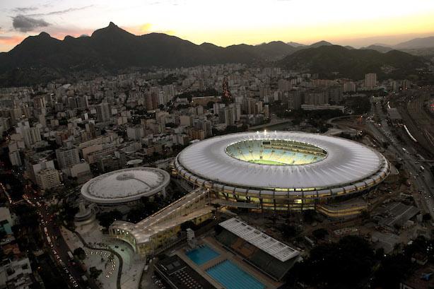 The Maracana Stadium in Rio (By Erica Ramalho/Portal da Copa/Março de 2013).