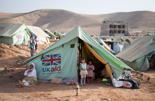 Shelter provided by UK aid for people displaced by Daesh in Iraq. Dalal, Iraq, July 2015 (pic credit: DfID)