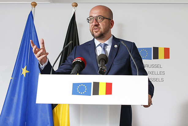Charles Michel: Credit THIERRY ROGE/Belga/Press Association Images