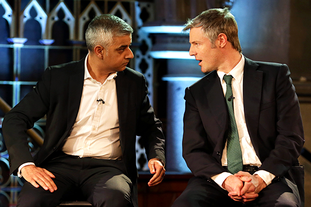 Khan and Goldsmith went head-to-head last night (Credit: Daniel Leal-Olivas/PA Wire/Press Association Images)