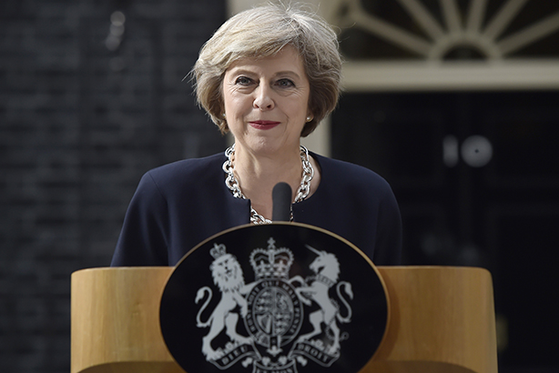 May: Gave her first speech as Prime Minister on Wednesday (credit: Hannah McKay/PA Wire)