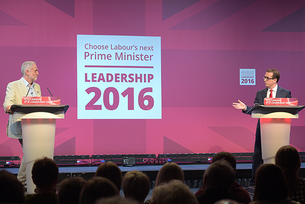 Head to head: Corbyn (l) and Smith: (Credit: Ben Birchall/PA Wire)