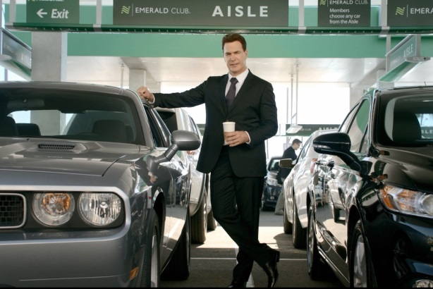 Actor Patrick Warburton stars in a new series of ads from National Car Rental.