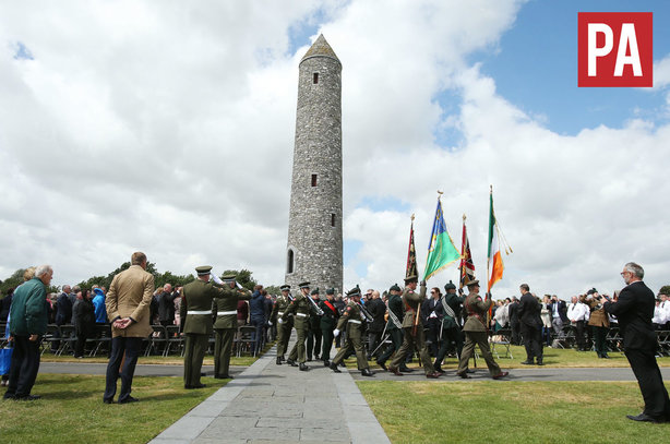 Soldiers march past the Peace Tower to commemorate the centenary of the Battle of Messines Ridge (pic credit: PA)