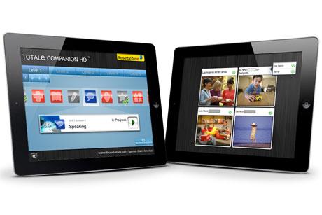 Online learning: Rosetta Stone